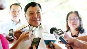 "Apology not Enough.  Governor Amado T. Espino, Jr. urges the members of the media to help the province recover from the ill-effects of an unfounded report by a late night national news TV program which broadcasted that a ""mysterious flesh-eating disease is fast spreading in the province of Pangasinan"" which caused panic among Pangasinenses and their relatives abroad.  The Governor appreciated the issued apology of Bandila of ABS-CBN, but he further sought the TV network to exert extra effort in rebuilding the image of Pangasinan as a province ""worth visiting"" and the people are healthy and friendly.  With the Governor is Vice Gov. Jose Ferdinand Z. Calimlim, Jr. and Provincial Health Officer Anna Teresa de Guzman"